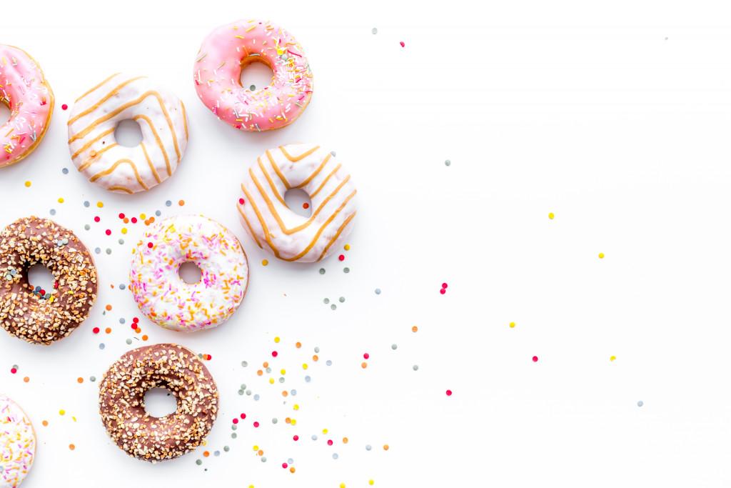 several donuts